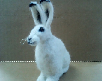 Needle-felting Kit - Mountain Hare - Endangered Moorland Species from Rare Breed Wool