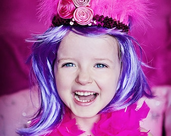 Magenta Pink Feather Headdress - FESTIVALS / PARTIES