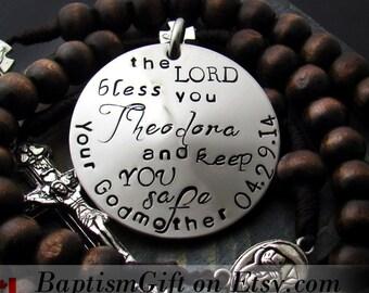 Baptism Gifts. Baptism Gift for Godparents. Personalized. Baptism Boy. Custom. God Bless You And Keep You. Christening. Godfather. Godmother