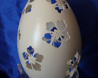 Carved Goose Egg: Going to the Tropics