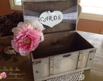 Rustic Wedding Card Box,Lace Wedding, Burlap Wedding, Large Card Box, Personalized.
