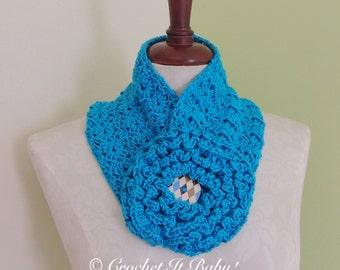 Crochet Rosette Scarf - PATTERN ONLY