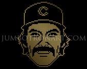 Dave Kingman Jumbotron Art - Limited Edition Gold Foil Print, 12 x12
