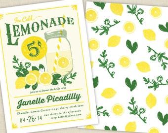 Crisp Lemonade Bridal Shower Invitations