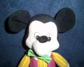 Mickey Mouse stuffed toy by Knickerbocker toy company