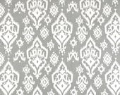 Ash Gray White American Southwest Ikat Raji Curtains - Rod Pocket - 84 96 108 or 120 Long by 25 or 50 Wide - Optional Blackout Lining