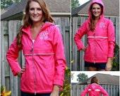 Ladies Monogrammed Rain Jacket