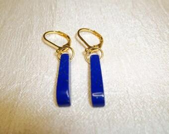 Lapis Lazuli Stick Style Earrings