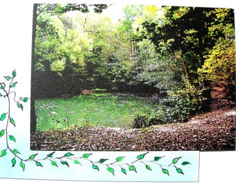 Postcard from one of my photos and its envelope decorated.