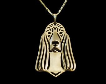 Irish Setter jewelry - Gold pendant and necklace.