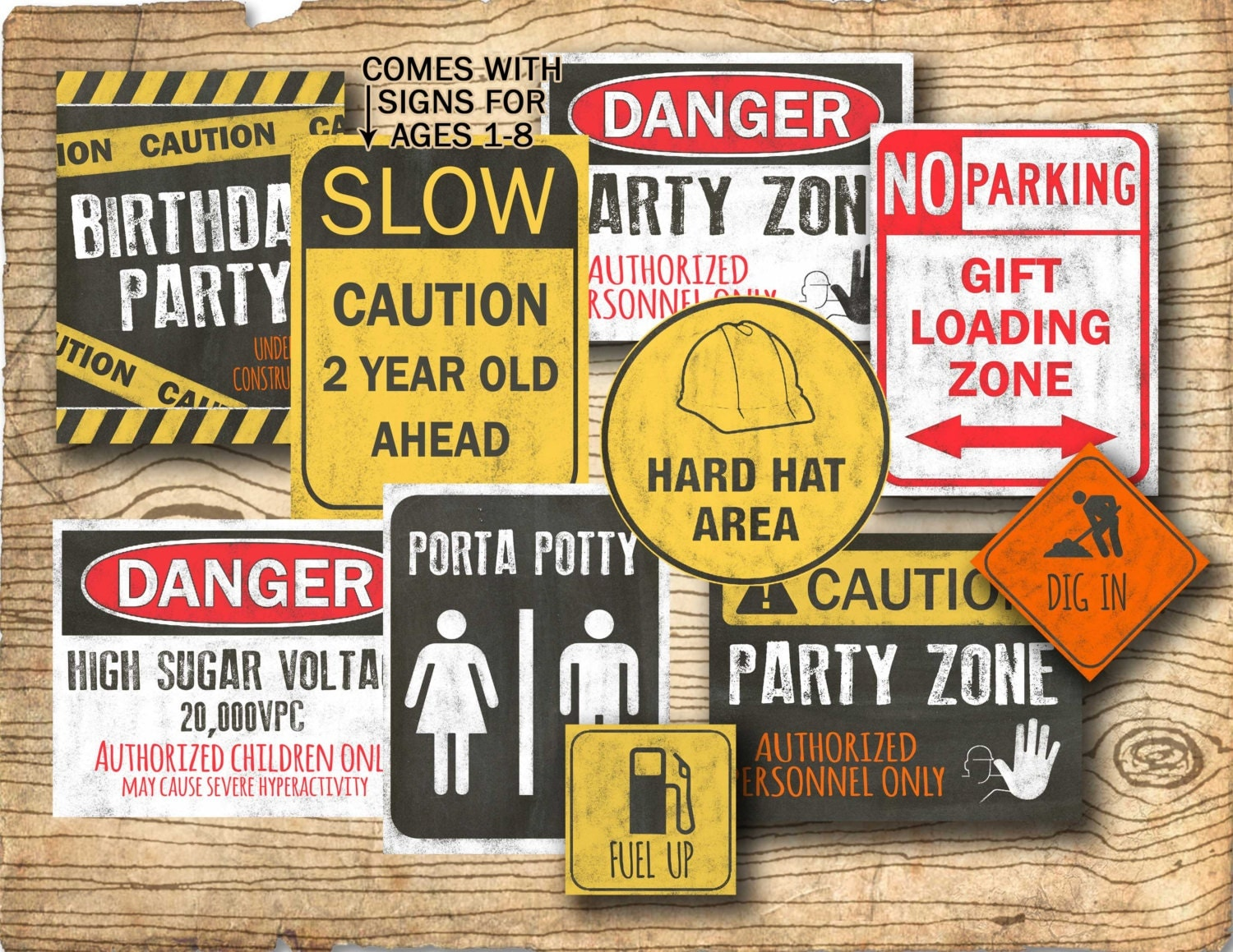 Construction Birthday Party Decorations Construction Birthday Party Signs Printable Construction
