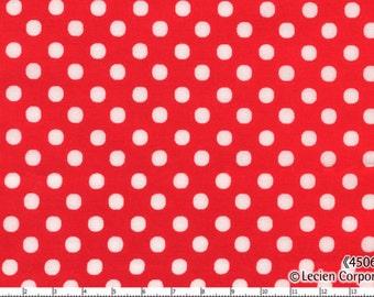 Bright Red Medium  Polka Dots from Color Basics by Lecien