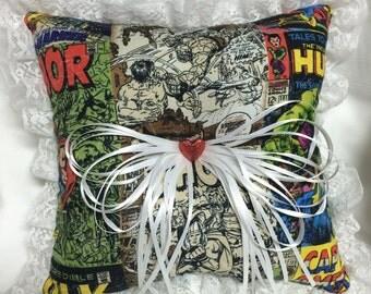 Custom Vintage Comic book prom or wedding Ring Bearer Pillow