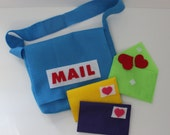 Mail Carrier Bag and Envelopes - Pretend Play - Dress Up - Toddler