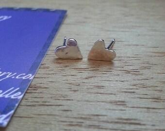 Heart Earrings, Heart Jewelry, Silver earrings, Stud Earrings, Love earrings, Heart, Gift for her, Heart Stud Earrings, Silver Heart, Stud