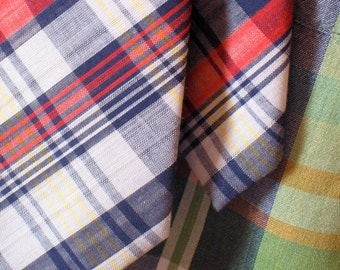 Vintage Madras Plaid Necktie from Bianchi Ca.