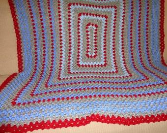 Crocheted Bedspread / Hand Made Quilt / Bedroom Decor / Colorful Blanket / Crochet Afghan / Warm Blanket / Unique Throw / Handmade Bedspread