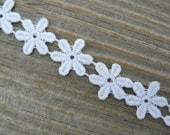White Daisy Choker Hippie Choker 60's Flower Child Vintage Style Retro Jewelry Boho Choker Necklace