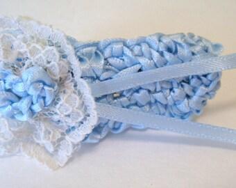 Hair Clip, Blue Hair Clip, girl's Hair Clip, Crochet Hair Clip, Hair Accessories,Children, Toddler hair clip, accessories for kids
