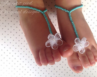 Baby barefoot sandals,toddler barefoot sandals, turquoise ,baby barefoot sandals, baby shower gift,beach wedding