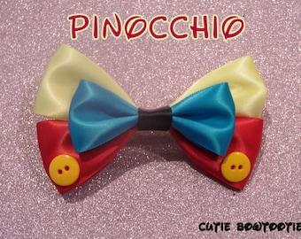 Pinocchio Hair Bow Disney Inspired