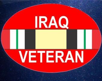 Iraq Veteran Car Magnet