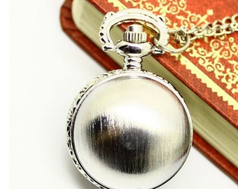 1Pcs 25mm Silver plated ball pocket watch charms pendant