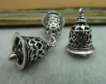 10Pcs  16mm x12mm Antique Silver Copper  Bell for jewelry making