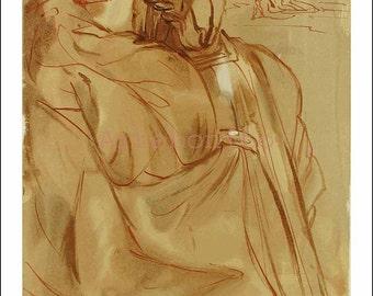 "Dali Woodcut ""Purgatory 30 - Announcement of great event"""