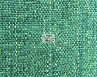 """Sparkle Chenille Upholstery Fabric - TURQUOISE - 57"""" Width Sold By The Yard"""