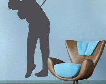 Ordinaire Golf Decals, Golfing Wall Art Murals, Office Decals Golfers, Modern Golf  Decor,