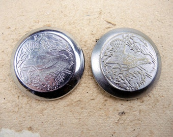 Vintage Pocket Watch Back Lids - set of 2 - c34