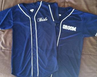Bride and Groom Custom Baseball Jerseys
