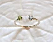 SALE Birthstone Ring Sterling Silver