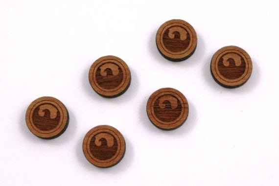 Laser Cut Supplies-8 Pieces.Eagle Disc Charms - Cherry Wood Laser Cut Eagle -Earring Supplies- Little Laser Lab Sustainable Wood Products