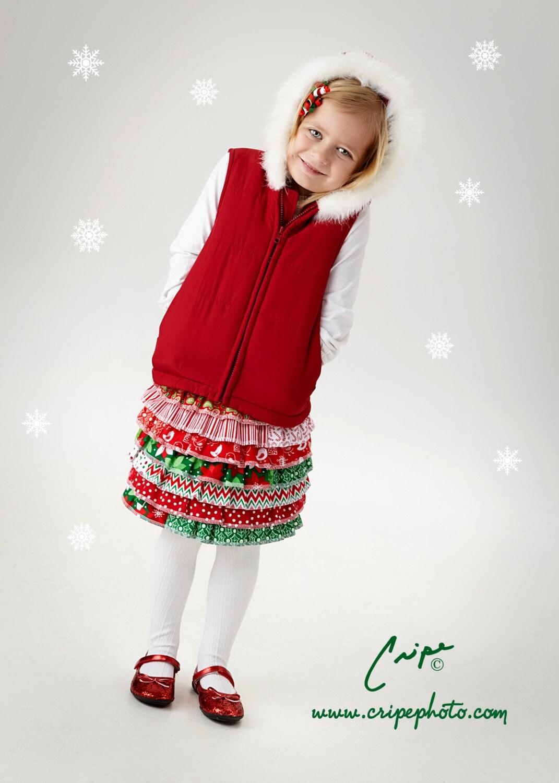 Little girl s christmas skirt holiday