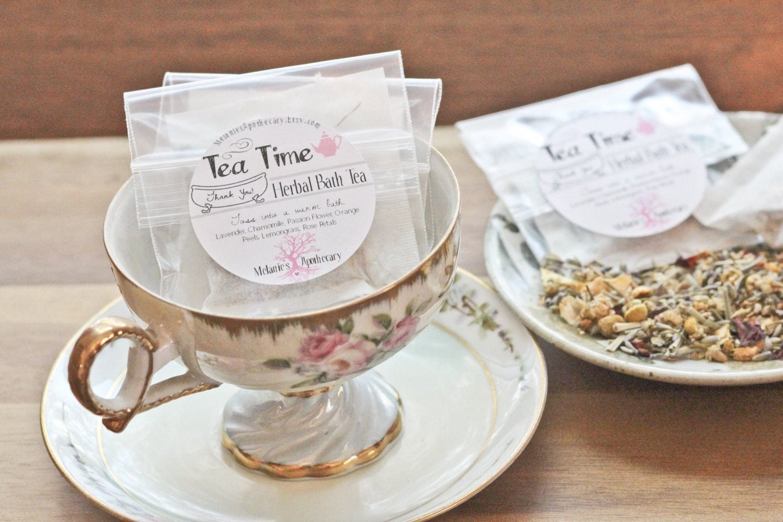 Tea Party Favors Herbal Bath Tea Bags Tea Time In The Tub