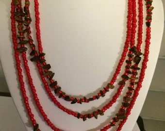 88 inch Wrap Necklace with secure clasp