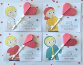 DIY - Instant Download - A Lollipop for you (Editable Valentine's Printable Digital Card - Blond Boy)