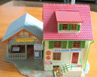 Vintage 1960s Faller HO Scale hotel and restaurant Made in Germany
