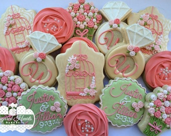 Bridal Shower / Anniversary / Engagement Cookies - 1 Dozen