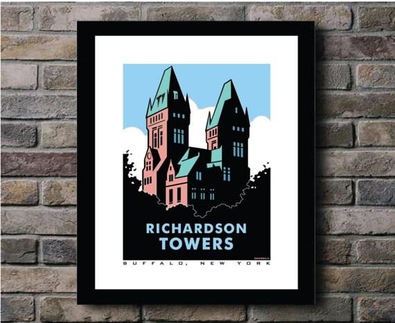 Richardson Towers Buffalo Ny Digital Print By