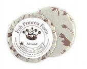 goat milk soap in almond