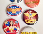 Set of 6 Wonder Woman Scrapbooking Flat Back Craft Badges