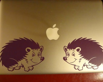 Hedgehog Decal MacBook Pro PC Laptop Decal Wall Home Decor Sticker Laundry Bedroom Bathroom Kitchen