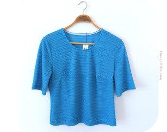 Vintage sky blue blouse, sky blue sweater, vintage blouse