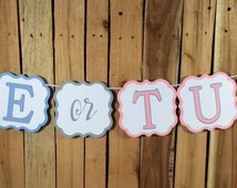 "Gender Reveal Banner ""Tie or Tutu"""