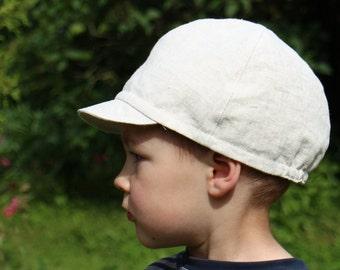 Boys Newsboy hat Toddler boy hat Linen newsboy cap Boys hat Toddlers Photo prop