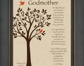 Custom Godmother Gift - Godmother Gift from Bride on Wedding Day - Wedding Thank You Gift - Can be made in wedding colors
