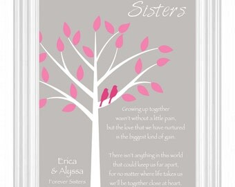 Good Wedding Gift Ideas For Sister : SISTERS gift print - Personalized gift for your Sister - Wedding Gift ...